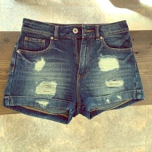 Bullhead Distressed Denim Shorts Size 3